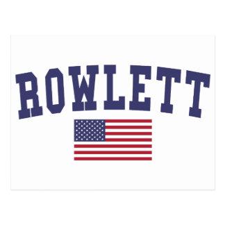 Rowlett US Flag Postcard
