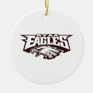 Rowlett Youth Athletic Association Ryaa Eagles Ceramic Ornament