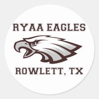 Rowlett Youth Athletic Association Ryaa Eagles Classic Round Sticker