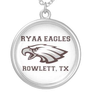 Rowlett Youth Athletic Association Ryaa Eagles Round Pendant Necklace