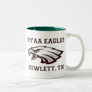 Rowlett Youth Athletic Association Ryaa Eagles Two-Tone Coffee Mug