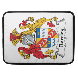 Rowley Family Crest MacBook Pro Sleeves