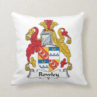 Rowley Family Crest Throw Pillow