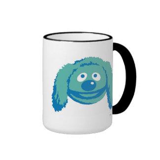 Rowlf Disney sonriente de los Muppets Taza De Dos Colores