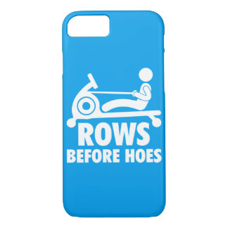 Rows Before Hoes - Funny Rowing Machine Workout iPhone 8/7 Case