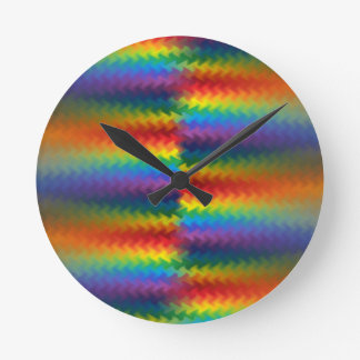 Rows of a Rainbow Fire Clock