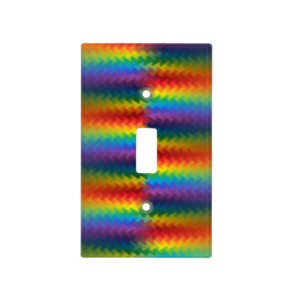 Rows of a Rainbow Fire Light Switch Cover
