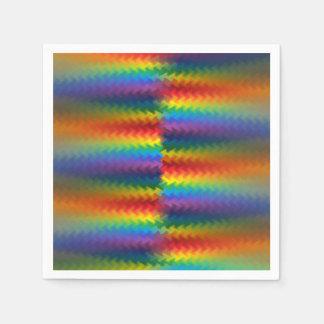 Rows of a Rainbow Fire Napkin