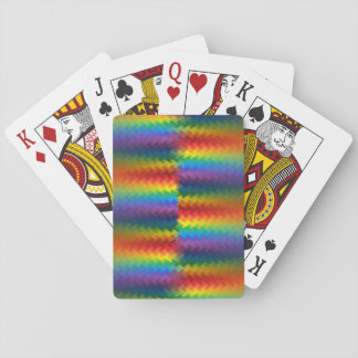 Rows of a Rainbow Fire Playing Cards