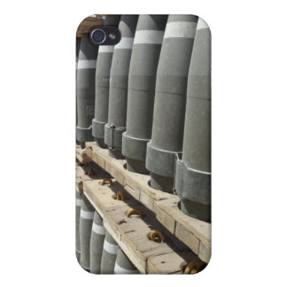 Rows of ammunition are stacked and prepped case for iPhone 4