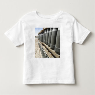 Rows of ammunition are stacked and prepped toddler t-shirt