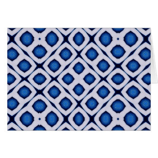 Rows Of Blue and White Card