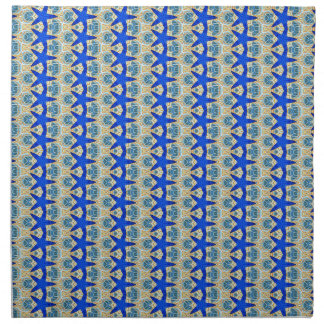 rows of blue stars napkins