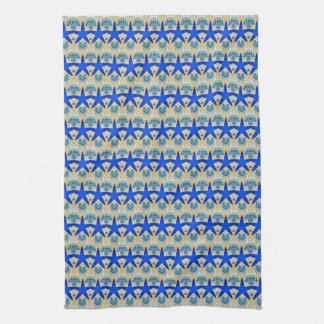 rows of blue stars towel
