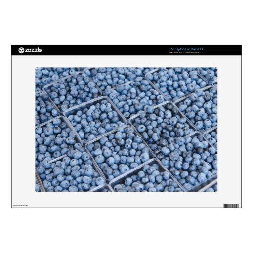 "Rows of blueberries 15"" laptop skin"