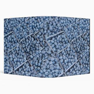Rows of blueberries 3 ring binder