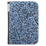 Rows of blueberries cases for the kindle