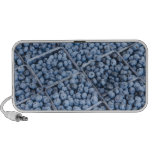 Rows of blueberries iPod speaker