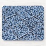 Rows of blueberries mouse pad