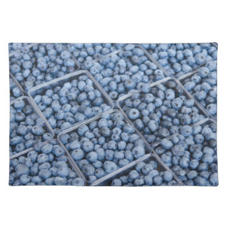 Rows of blueberries placemats
