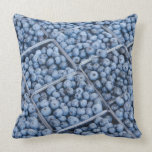 Rows of blueberries throw pillow