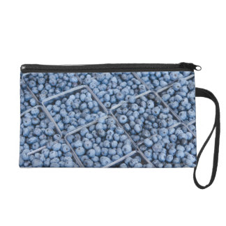 Rows of blueberries wristlet