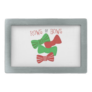 Rows Of Bows Belt Buckles