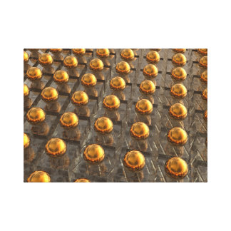 Rows of Bronze Canvas Print