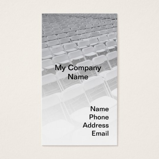 Rows of Chairs - Outdoor Event Business Card