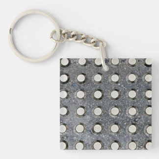 Rows of Circles Double-Sided Square Acrylic Keychain