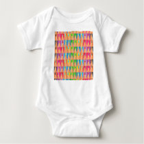 Rows of Colored Pencils Baby Bodysuit