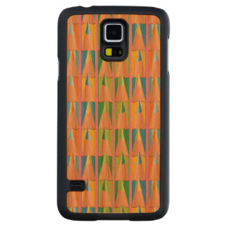 Rows of Colored Pencils Carved Cherry Galaxy S5 Slim Case
