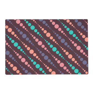 Rows of Colored Strings of Pearls Laminated Placemat