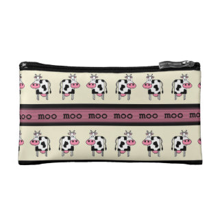 Rows of Cows Makeup Bag