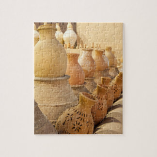 Rows of earthenware Pottery in Nizwa, Oman Jigsaw Puzzle