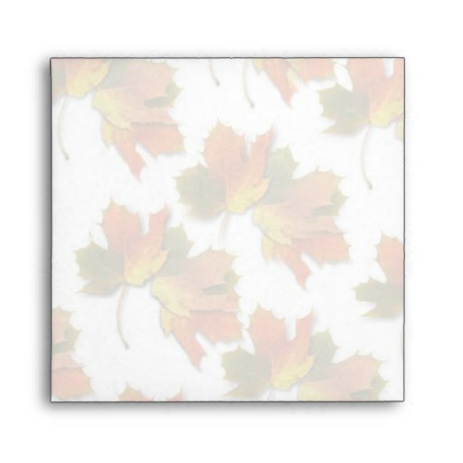 Rows of Fall Leaves Envelope