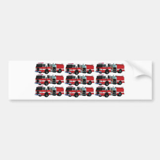 rows of fire engines bumper sticker