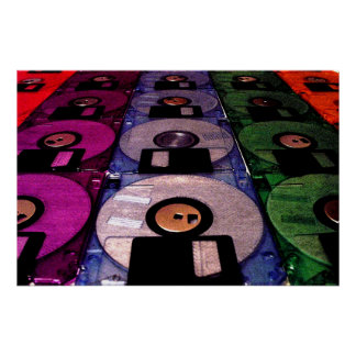 Rows of Floppies Posters