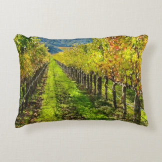Rows of Grapevines in Napa Valley California Accent Pillow