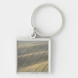 Rows of Harvested Wheat Field, Val d'Orcia, Keychain