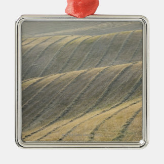 Rows of Harvested Wheat Field, Val d'Orcia, Metal Ornament