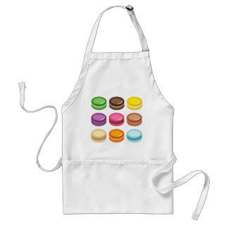 Rows of Macarons Adult Apron