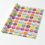 Rows of Macarons Gift Wrap Paper