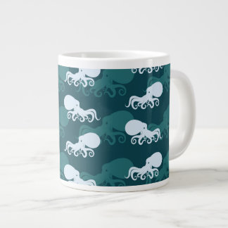 Rows Of Octopus Pattern Giant Coffee Mug