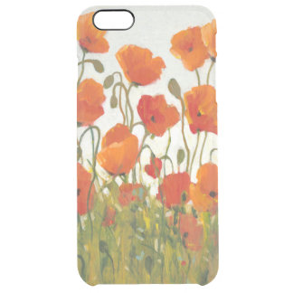 Rows of Poppies I Clear iPhone 6 Plus Case