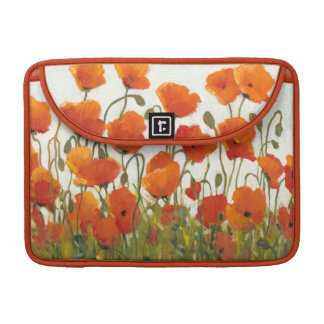 Rows of Poppies I Sleeves For MacBooks