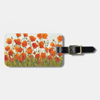 Rows of Poppies I Travel Bag Tag