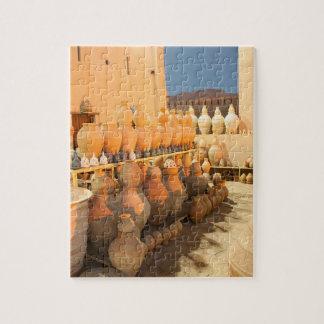 Rows of Pottery in Nizwa_Oman Jigsaw Puzzle