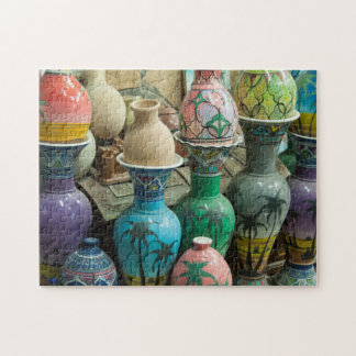 Rows of Pottery in Nizwa, Oman Jigsaw Puzzle