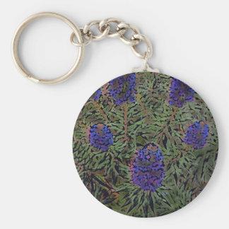 Rows of Purple California Lavender Plant  Del Mar Keychain